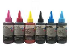 6x100 ml Refill ink bottles for HP 02 C5180 C6180 D7360