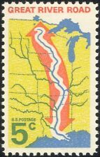 USA 1966 Great River Road/Transport/Motoring/Rivers/Tourism/Maps 1v (n44993)