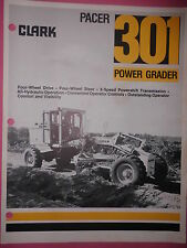 Prospekt Sales Brochure Clark Pacer Power Grader 301 Specifications Technisches