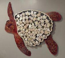 Sea Turtle Alternative Wedding Guest Book Wood with Multi-sized Signing Charms