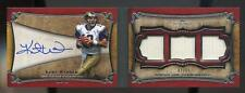 2011 Topps Five Star KURT WARNER AUTO TRIPLE JERSEY BOOK #2/35