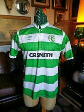 Vintage RARE Celtic Umbro CR SMITH Football Shirt Jersey.Medium VGC.1987-89