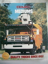 GMC Mediums Truck brochure 1981