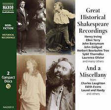Great Historical Shakespeare Recordings, Shakespeare, William