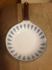 Vintage Cathrineholm Blue & White Lotus Enamel Skillet / Frying Pan – Retro