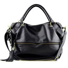 Fashion Handbag Lady Shoulder Bag Tote Purse PU Leather Women Messenger Black US
