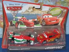 DISNEY PIXAR CARS 2 FRANCESCO BERNOULLI & LIGHTNING McQUEEN 2 PACK **BRAND NEW**