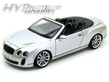 BBURAGO 1:18 BENTLEY CONTINENTAL SS CONVERTIBLE SILVER DIE-CAST 18-11035MJSIL