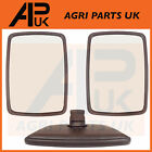 "Universal Wing Mirror Head Pair 11.5"" x 8.5"" Tractor Digger Lorry Truck Plant"