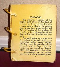 1940's Miniature Model of the Gold Plates of the Book of Mormon LDS Rare Vintage