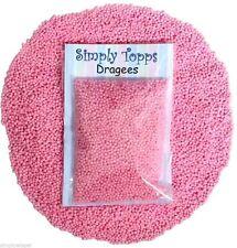 Perla Rosa Peladillas 1mm (30g) perlas brillo decoración pasteles, cupcakes