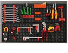 Kit de almacenamiento Soporte para herramientas de plástico de Montaje en Pared Panel Placa Garaje Organizador Louvre