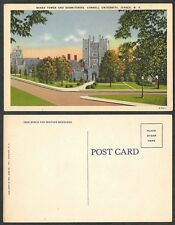 Old Postcard - Ithaca, New York - Cornell University - Tower and Dorms