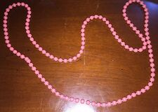 VINTAGE COSTUME JEWELRY PINK FAUX PEARL BEADS  NECKLACE
