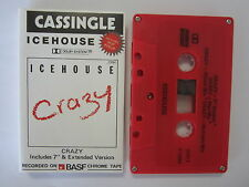 ICEHOUSE CRAZY MEGA RARE AUSTRALIAN RED MAXI CASSINGLE TAPE WITH POP PIN UP