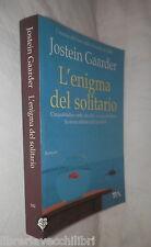 L ENIGMA DEL SOLITARIO Jostein Gaarder Tea 2009 Romanzo Racconto Narrativa di e