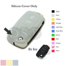 Silicone Cover Holder for VW VOLKSWAGEN SEAT SKODA Remote Key Fob 3BTN CV2801 GY