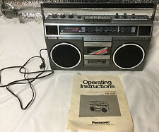 Vintage Panasonic RX-5031 FM/MW/SW1/SW2 W/ Original Owner's Manual 1981 HTF