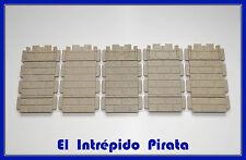 PLAYMOBIL - 5 Secciones Lisas para Castillo Medieval Caballeros Victoriano 3666