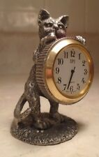 1994 SPI Pewter Kitty Cat Clock