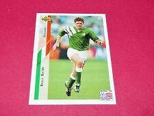 NIALL QUINN IRELAND EIRE FIFA WC FOOTBALL CARD UPPER USA 94 PANINI 1994 WM94