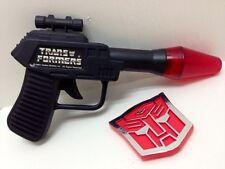 1984 Transformers G1 Hasbro Bradley Toy Gun & Badge NOS