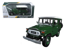 MOTOR MAX 1:24 W/B PLATINUM TOYOTA FJ40 Diecast Car SUV Green Color 79323 GREEN
