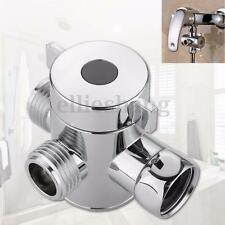 1/2'' 3 Way T-adapter Toilet Bidet Bath Shower Head Arm Mounted Diverter Valve