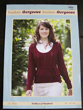 "Twilleys Knitting Pattern: Ladies Scoop Neck Sweater, DK, 32-42"", 9094"
