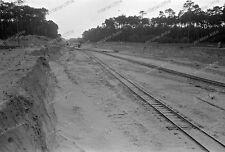 Negativ-Reichsautobahn-Darmstadt-Baustelle-Feldbahn-1930er Jahre-1930s-3