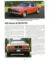 1967 Camaro SS Convertible Article - Must See !!