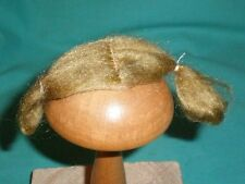 "doll wig mohair blond 4  1/3"" to 4  1/2""/ short /pigtails to the side"