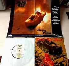 "URIAH HEEP / BLOOD RED ROSES - 7"" (UK 1989 with POSTER SLEEVE) NM- / NM-"