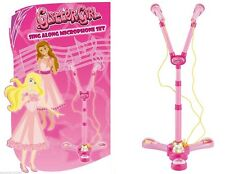 Glitter Girl Sing Along Microphone Set Twin Microphone With Stand Toy Xmas Gift