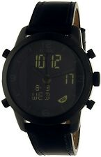 Fossil Men's Pilot 54 FS5174 Black Leather Quartz Watch