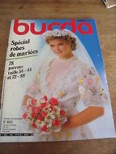 MAGAZINE BURDA VINTAGE SPECIAL ROBES DE MARIEES 78 MODELES  1982