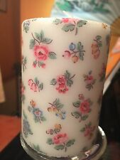 CATH KIDSTON HIGHGATE DITSY WHITE DESIGN HAND DECORATED PILLAR CANDLE
