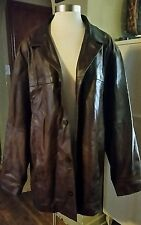 Vintage M. Julian Wilsons Mens Brown Leather Jacket Coat Size LT