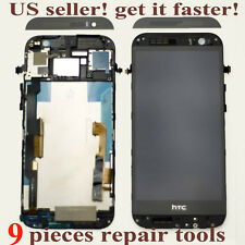 USA NEW HTC ONE M8 831C LCD Screen Display + Digitizer Touch + Frame Black Gray