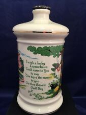 Vintage OLD FITZGERALD 1975 WHISKEY DECANTER AN IRISH WISH Collectible