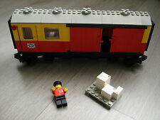 Lego train 12V 12 volts postal conteneur wagon 7819