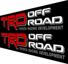 "TRD OFF ROAD DECALS 3.5""X22"" Inch 2PC V1 TH1 Toyota Tacoma Tundra Vinyl Stickers"