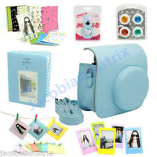 Gmatrix Fujifilm Instax Mini 8 Case Bag Accessory Bundle Set Best Gift Blue