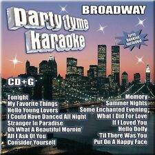 Party Tyme Karaoke CD BROADWAY New & Sealed CD+G Sing-Along 16 Songs Free Ship.
