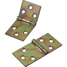 Yellow Zinc-Plated Drop Leaf Hinges for Straight Edges - Hardware > Project H...