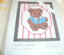 Teddy Bear Picture Counted Cross Stitch Kit NIP Baby's Room