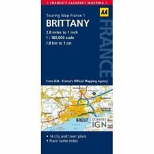 1. Brittany: AA Road Map France by AA Publishing (Sheet map, folded, 2014)