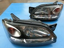 JDM Subaru Liberty Legacy B4 BE5 BH5 BH9 BLACK HID Headlight Head Lights 1 Pairs
