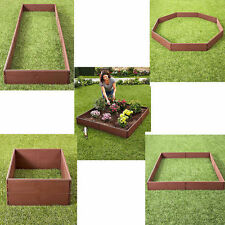 Raised Garden Bed Set Flower Vegetables Seeds Planter Kit Elevated Square Box