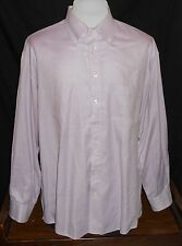 Burberry London Button Front Shirt Mens XL Long Sleeve Solid Purple Flip Cuff